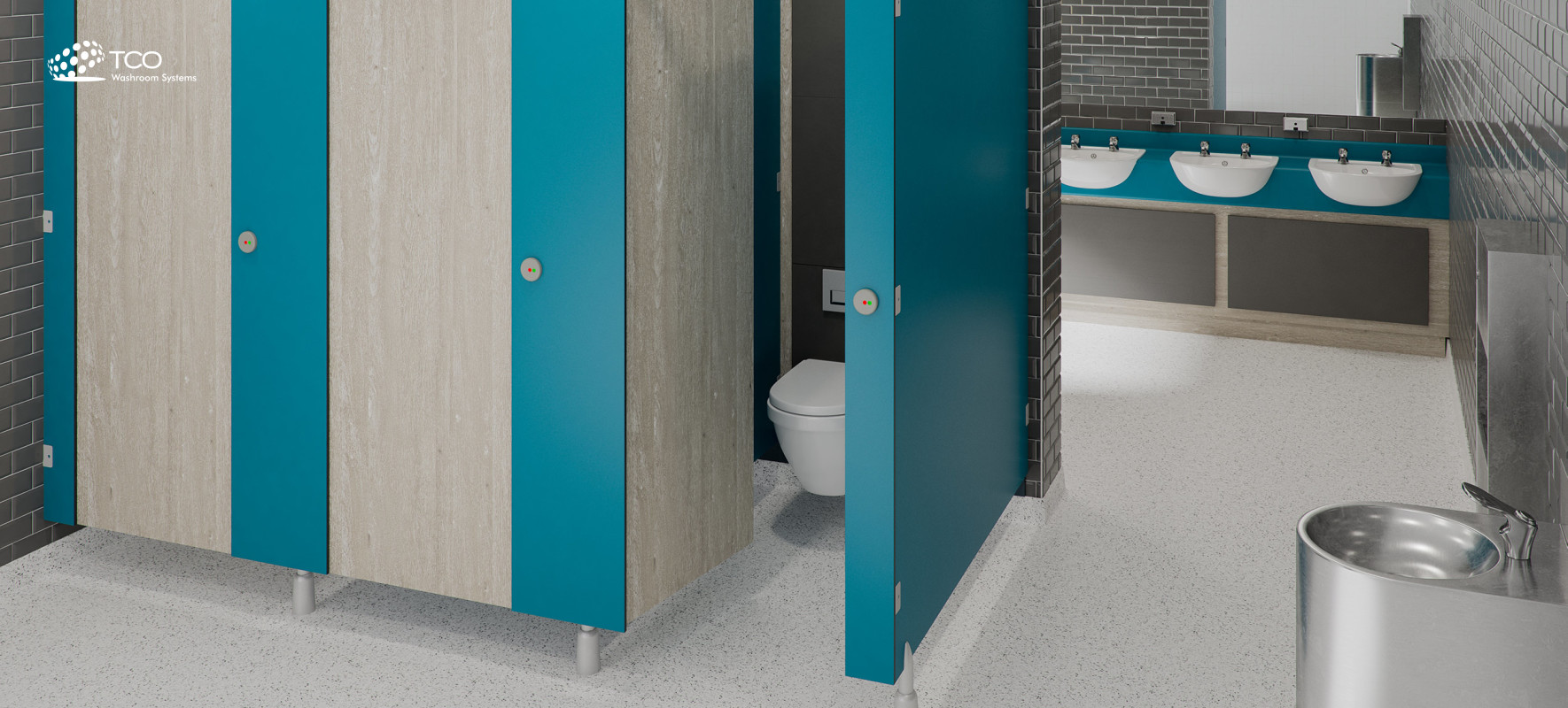 Toilet Cubicles Online | Cubicle Systems & Commercial Washrooms